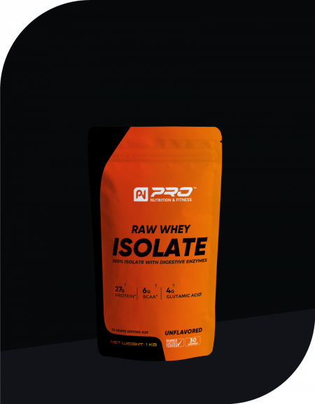 RAW WHEY ISOLATE: 100% WHEY ISOLATE WITH DIGESTIVE ENYZMES
